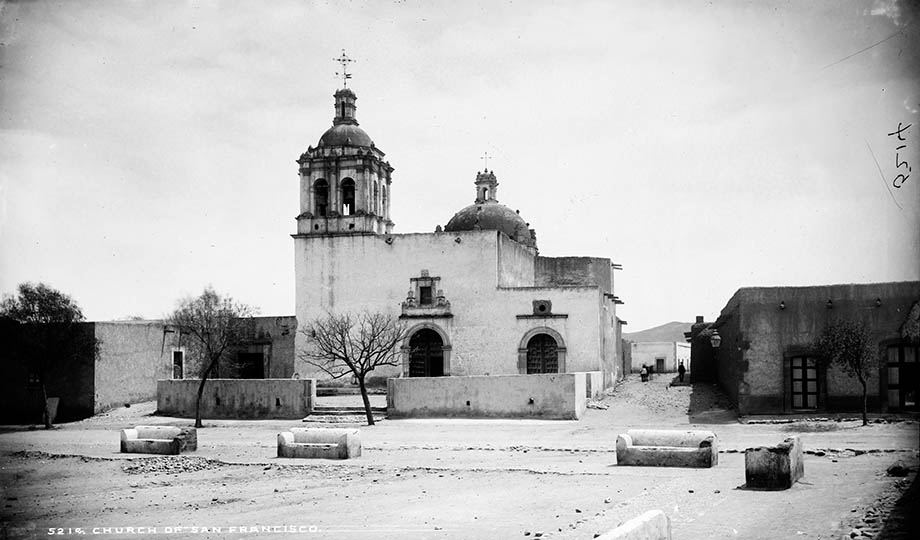 Fotografía del templo de San Francisco de William H. Jackson